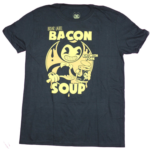 Bendy And The Ink Machine Mens  T-Shirt - Briar Label Bacon Soup Image