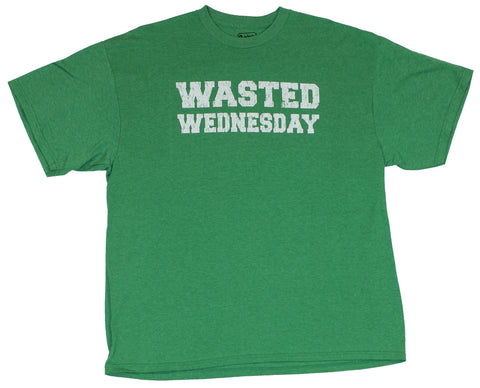 "Crude Attitude Mens T-Shirt -  ""Wasted Wednesday"" Block Letter Logo"