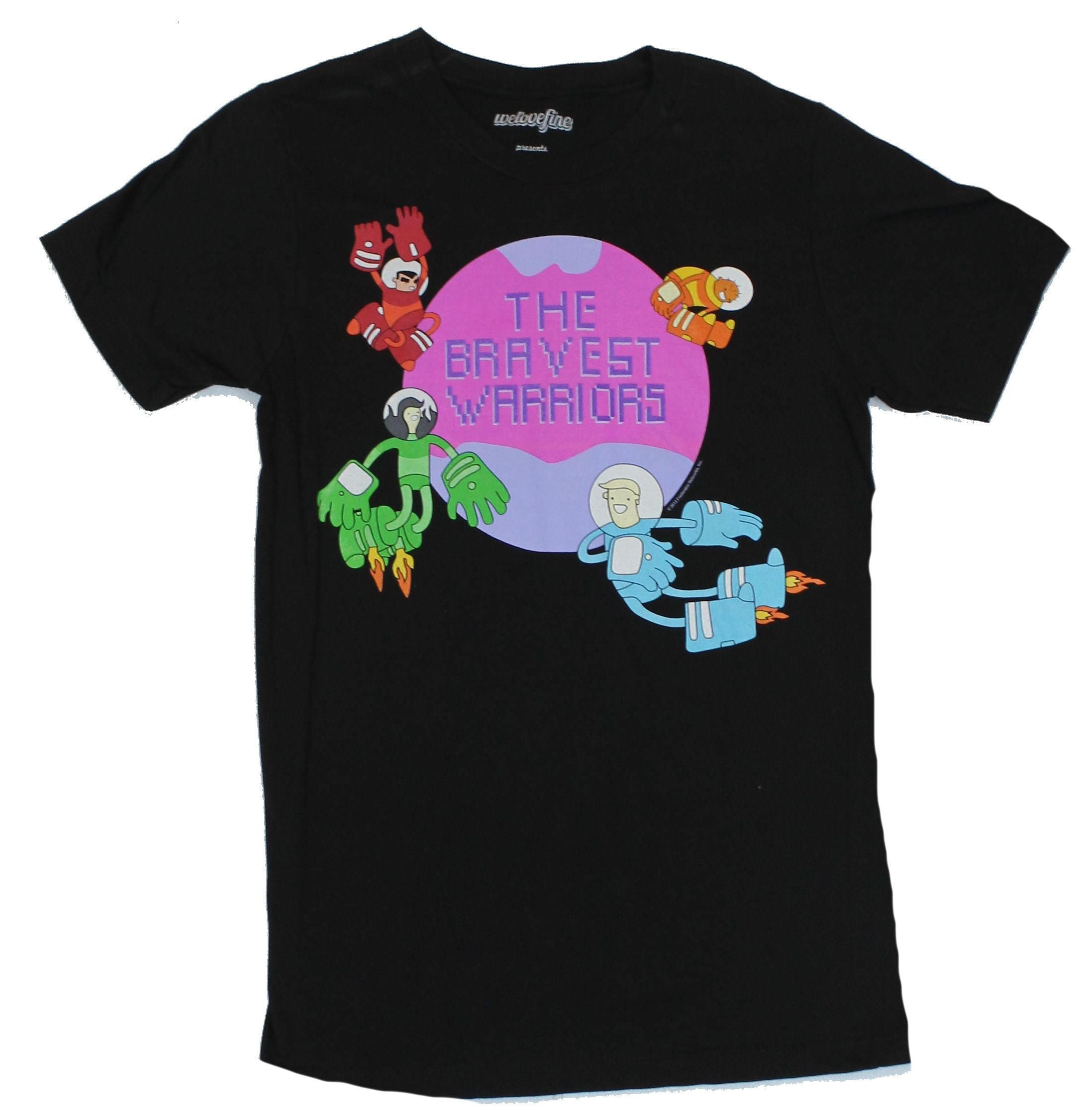 The Bravest Warriors Mens T-Shirt  - Classic Team Planet Logo Image