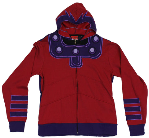 Marvel Comics Magneto Mens Zip Up Hoodie Sweatshirt - X-Men Villian Costume