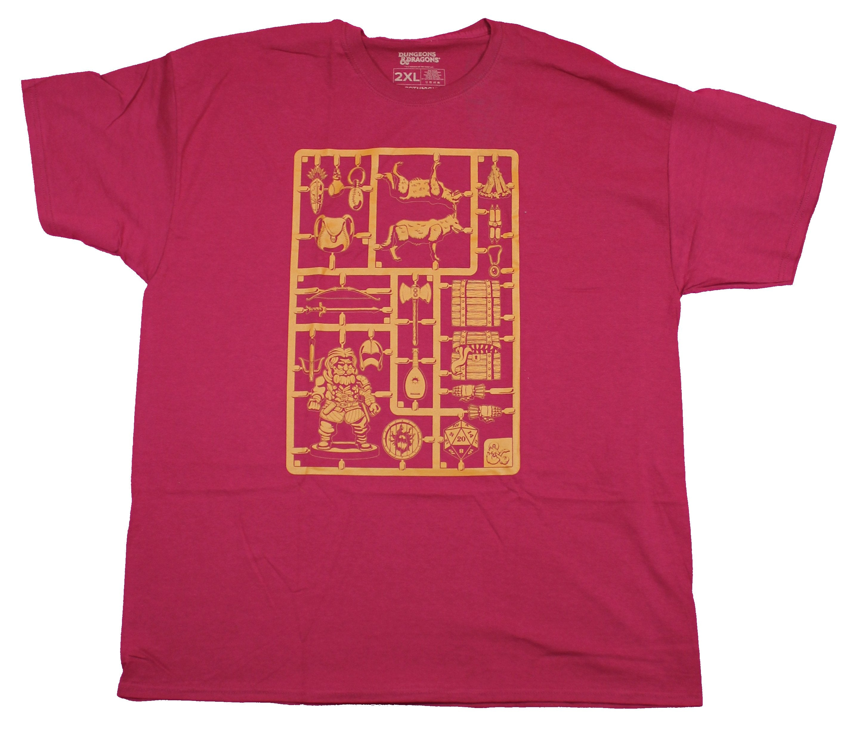 Dungeons & Dragons Mens  T-Shirt- Snap out Game Pieces Image