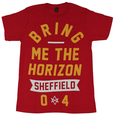 Bring Me The Horizon Mens T-Shirt-  Sheffield 04 Simple Word Image