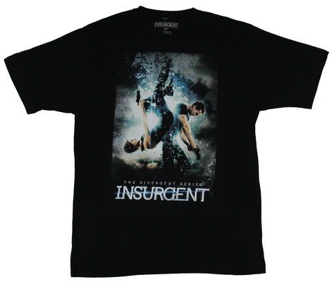 Insurgent The Divergent Series Mens T-Shirt - Double Gun Shoot Shattering Image