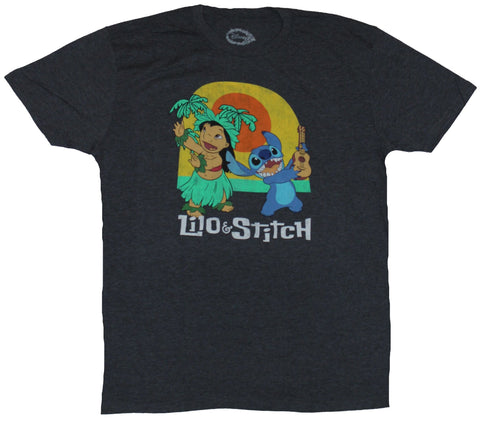 Lilo & Stitch (Disney) Mens T-Shirt - Hulu Dancing Lilo and Stitch