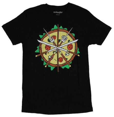 Teenage Mutant Ninja turtles Mens T-Shirt - Pizza Weapons Image