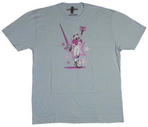 Bee & Puppycat Mens T-Shirt - Sword Wielding Bee Powerful Envelope Pose