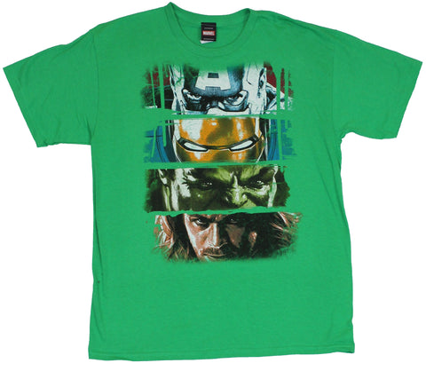 The Avengers (Marvel Comics) Mens T-Shirt - Main 4 Eye Bar Swathes