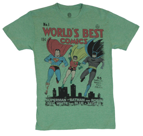 Dc Comics The Worlds Best Comics Mens T-Shirt  - Classic Worlds Fair Cover o