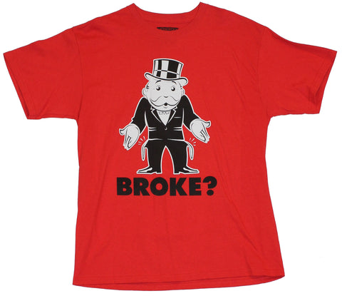 Monopoly Mens T-Shirt  - Broke? Empty Pocketed Pennybags Image