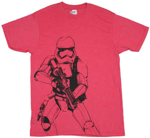 Star Wars  Mens T-Shirt  - First Order Sid sketch Stormtrooper Image