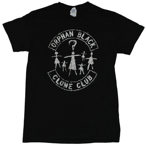 Orphan Black Mens T-Shirt - Simple Distressed Clone Club Stick Figure Image