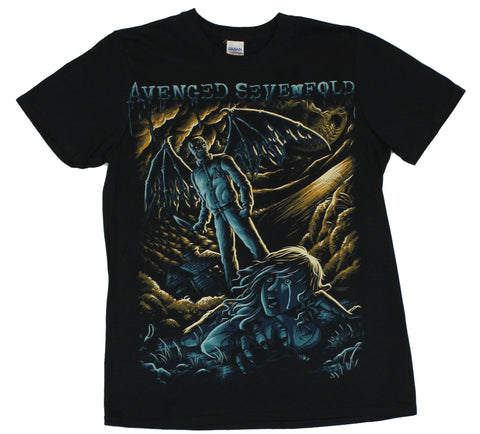 Avenged Sevenfold A7X Mens T-Shirt -  Varisity Batwing Demon Attacks