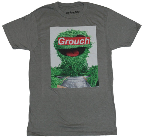 Sesame Street Mens T-Shirt - Oscar The Grouch Photo With Grouch Covered Eyes