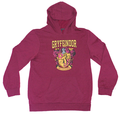 Harry Potter Girls Plus Size Pull-Over Hoodie - Gryffindor Crest Speckled
