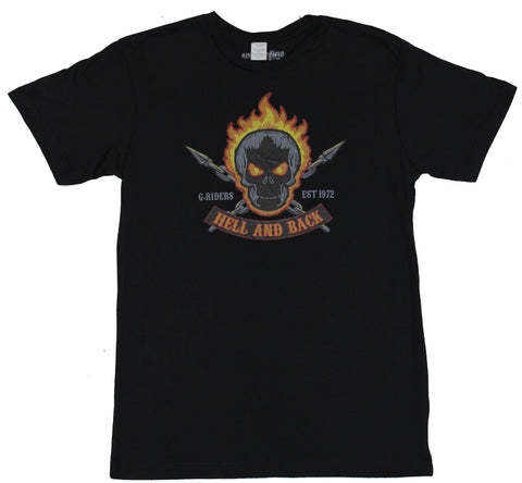 Ghost Rider (Marvel Comics) Mens T-Shirt - Hell and Back G-Raiders Est 1972