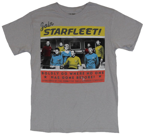Star Trek Mens T-Shirt - Join Star Fleet Simple Colored Old School Cat Image