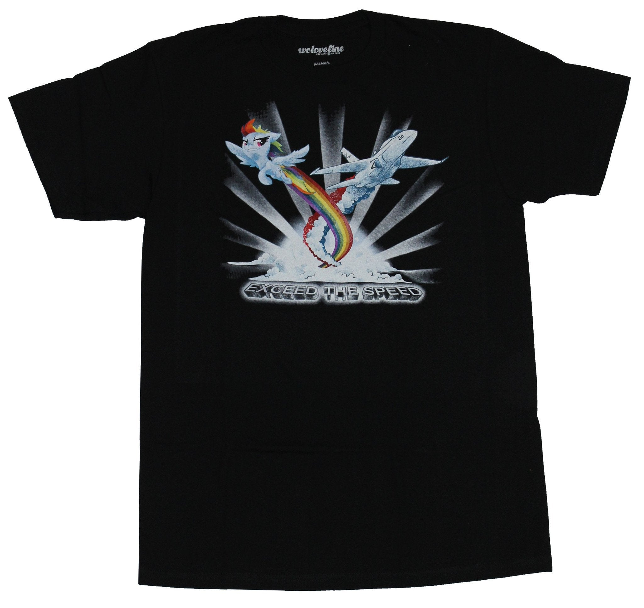 My Little Pony Mens T-Shirt  - Rainbow Dash Exceed The Speed Image