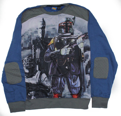 Star Wars Mens Crewneck Sweatshirt - Full Bounty Boba Fett & IG 88 Image