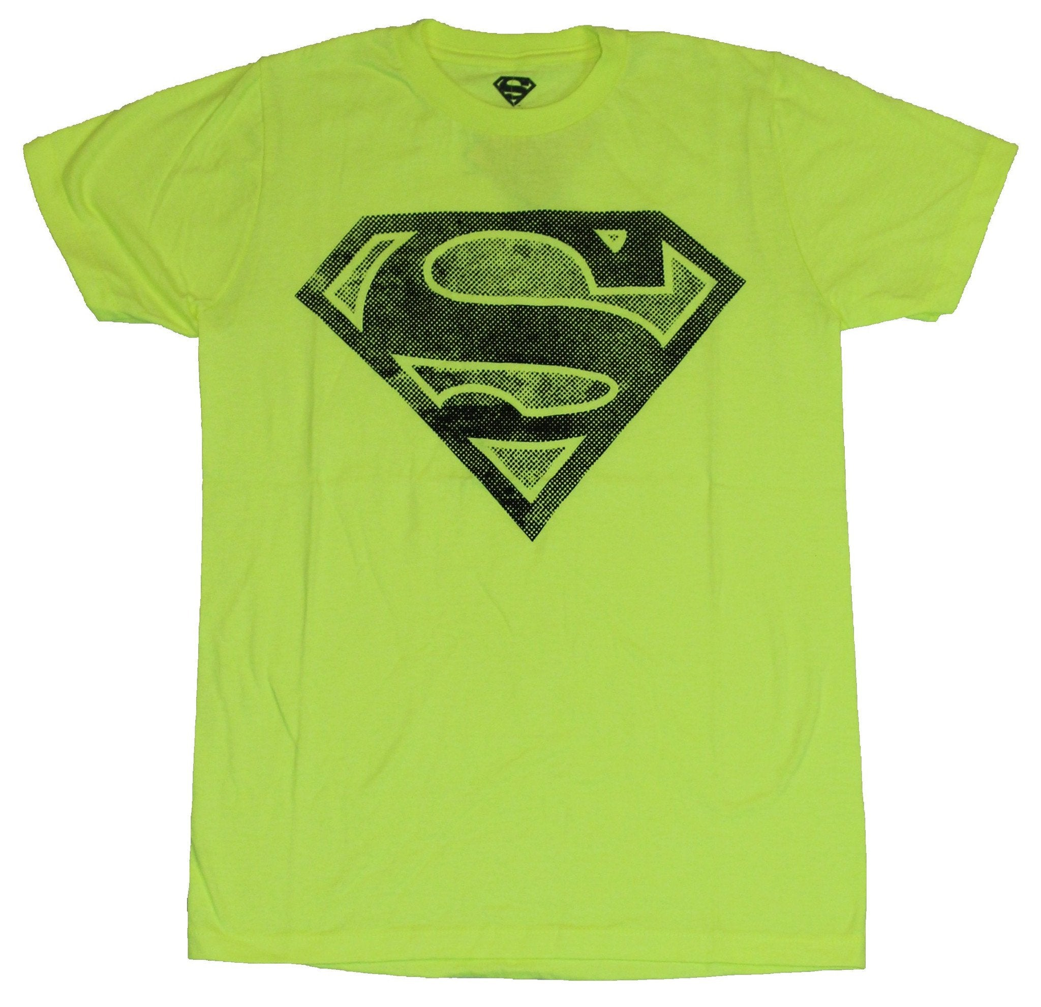 Superman (DC Comics)  Mens T-Shirt - Dotted Gray Classic Logo Image