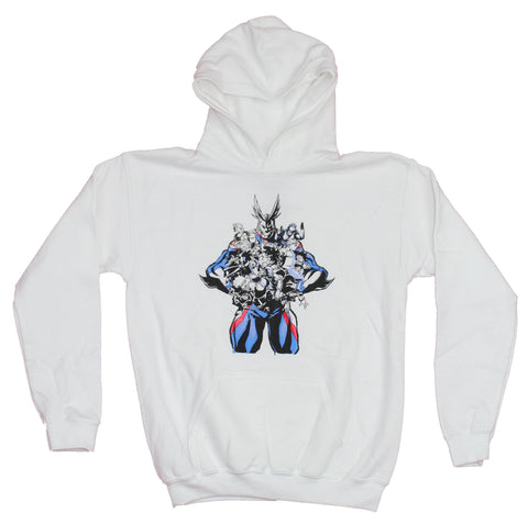 My Hero Academ Girls Juniors Hoodie Sweatshirt - All Might Over Attacking Class 1A