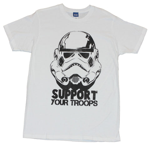 "Star Wars Mens T-Shirt - ""Support Your Troops"" Stormtropper Face"