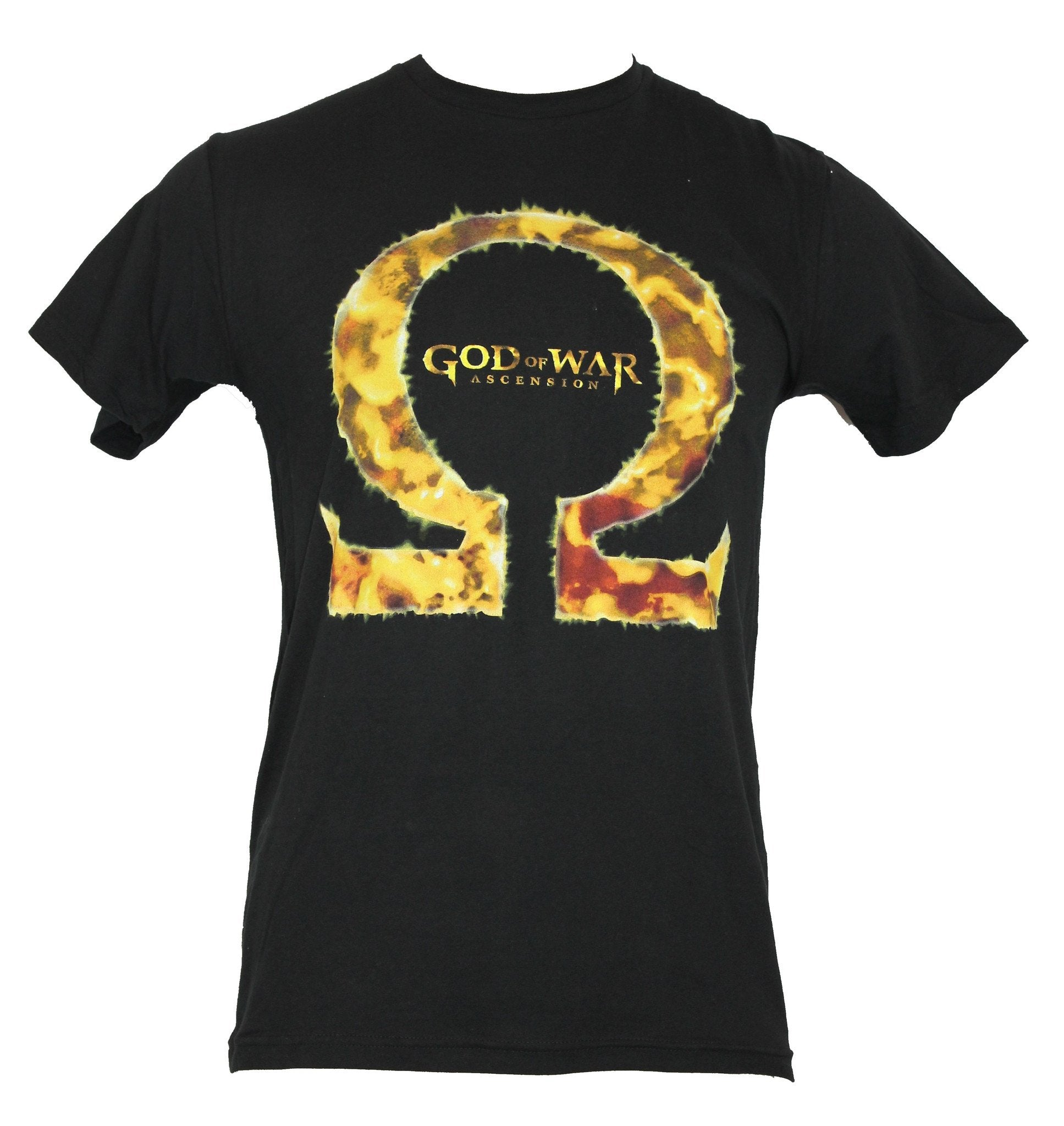 "God of War Mens T-Shirt - ""Ascension"" Giant Molten Kraitos Symbol Image"