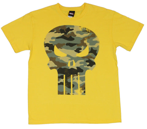 The Punisher (Marvel Comics) Mens T-Shirt  - Camo Skull Image