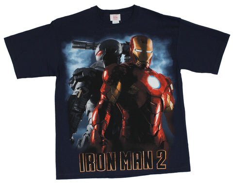 Iron Man 2 Mens T-Shirt - War Machine Iron Man 2 Back to Back Image