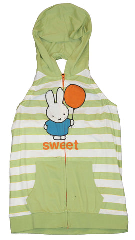 "Miffy Half-Back Sleeveless Hoodie Sweatshirt - ""Sweet"" Orange Balloon"