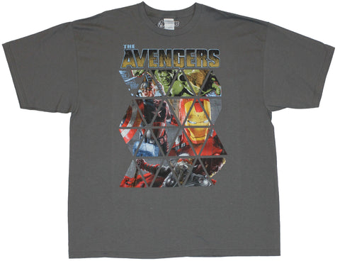 The Avengers (Marvel Comics) Mens T-Shirt - Triangled Image of The Big Four