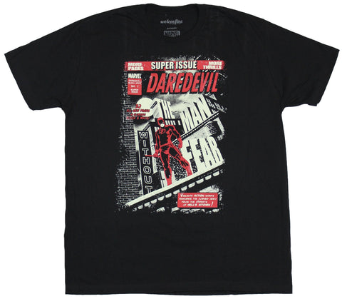 Daredevil (Marvel Comics) Mens T-Shirt - Super Issue Black & White 1 Image