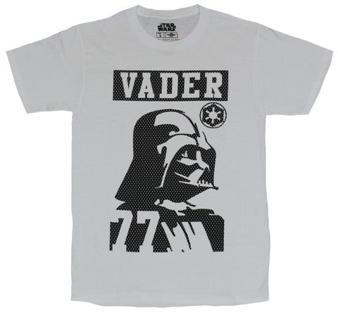 Star Wars Mens T-Shirt - Dotted Vader 77 Simple Image