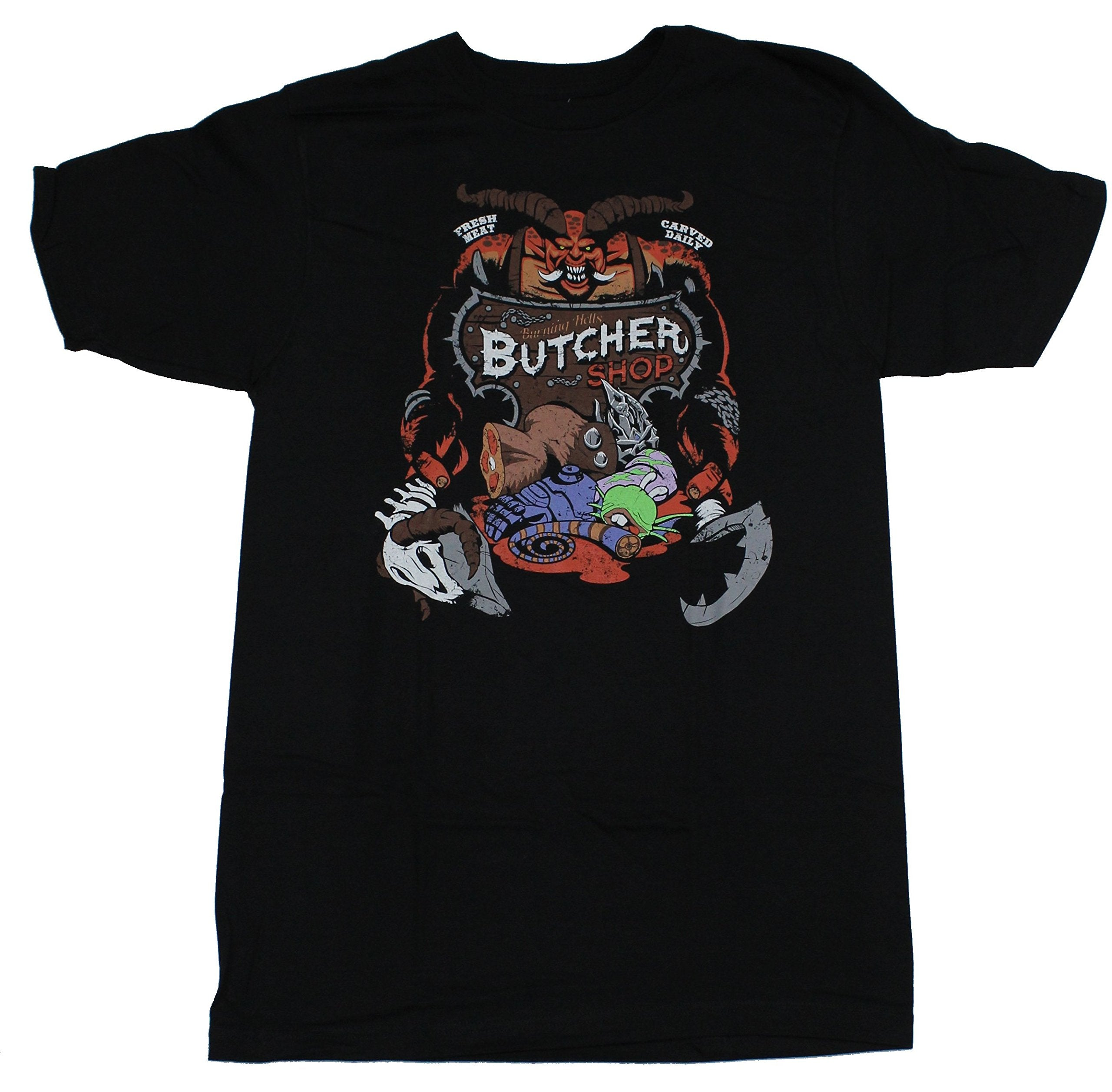 Heroes of the Storm Mens T-Shirt - Burning Hell's Butcher Shop Image