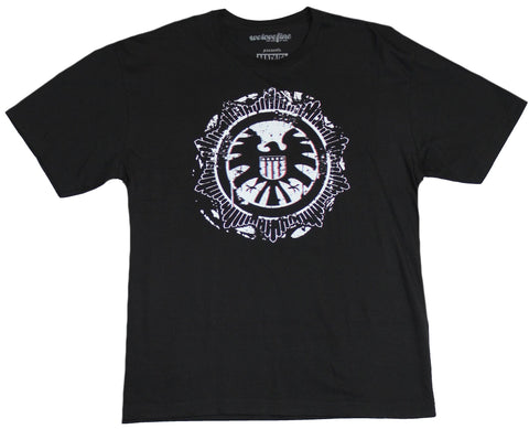 SHIELD  (Marvel Comics) Mens T-Shirt - S.H.I.E.L.D. Distressed Ornate Crest