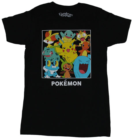 Pokemon Mens T-Shirt -  Giant Pokemon Collction Boxed & Happy Image