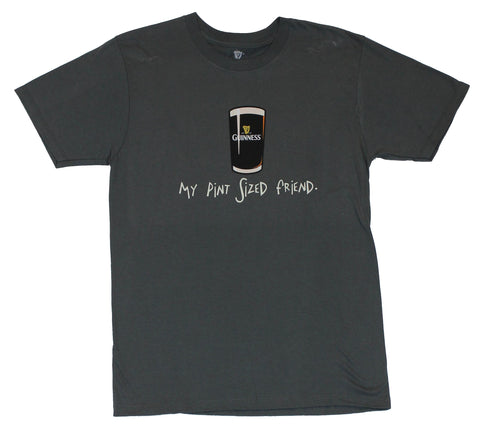 Guinness Mens T-Shirt  - My Pint Sized Friend! Pint Image on Gray