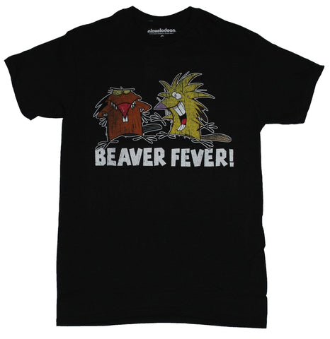 Angry Beavers  Mens T-Shirt - Beaver Fever Dagget and Nobert Image
