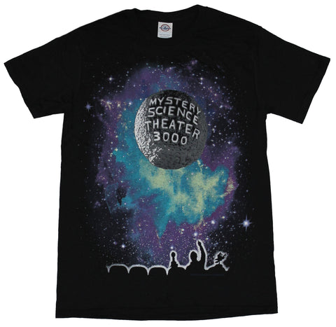 Mystery Science Theatre 3000 Mens T-Shirt -  Purple Blue Moon Credits Image