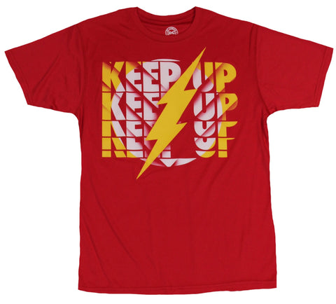Flash (DC Comics) Mens Moisture Wicking  T-Shirt - Keep  Up Bolt Image