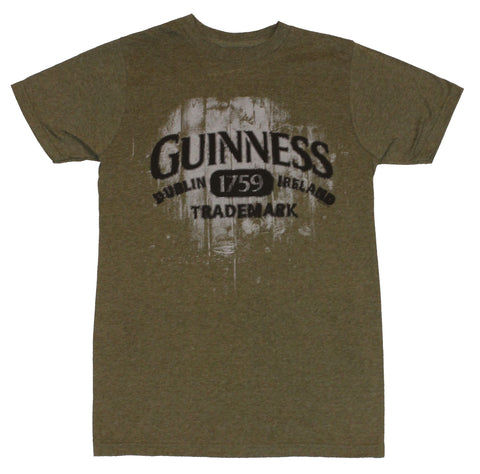 Guinness Mens T-Shirt - Distressed Trademark 1759  Image