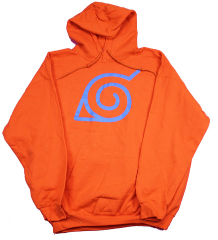 Naruto Shippuden Mens Pullover Hoodie  -Village in the Hidden Leaf Symbol