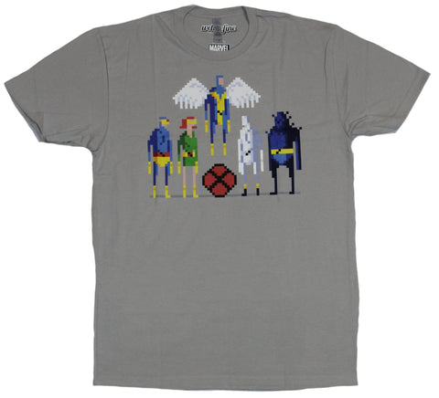 X-Men (Marvel Comics) Mens T-Shirt - Pixel Styled Original X-Men Lineup Group
