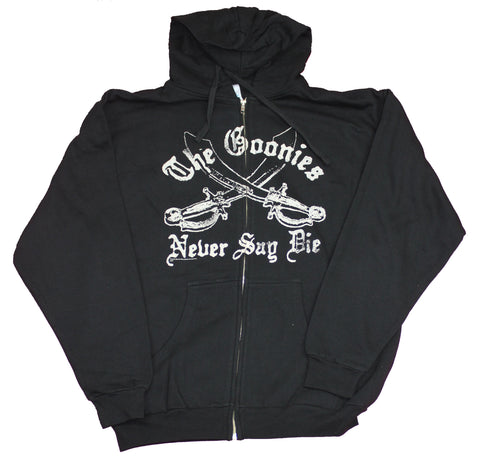 The Goonies Mens Zip Up Hoodie -  Never Say Die Swords Hoodie
