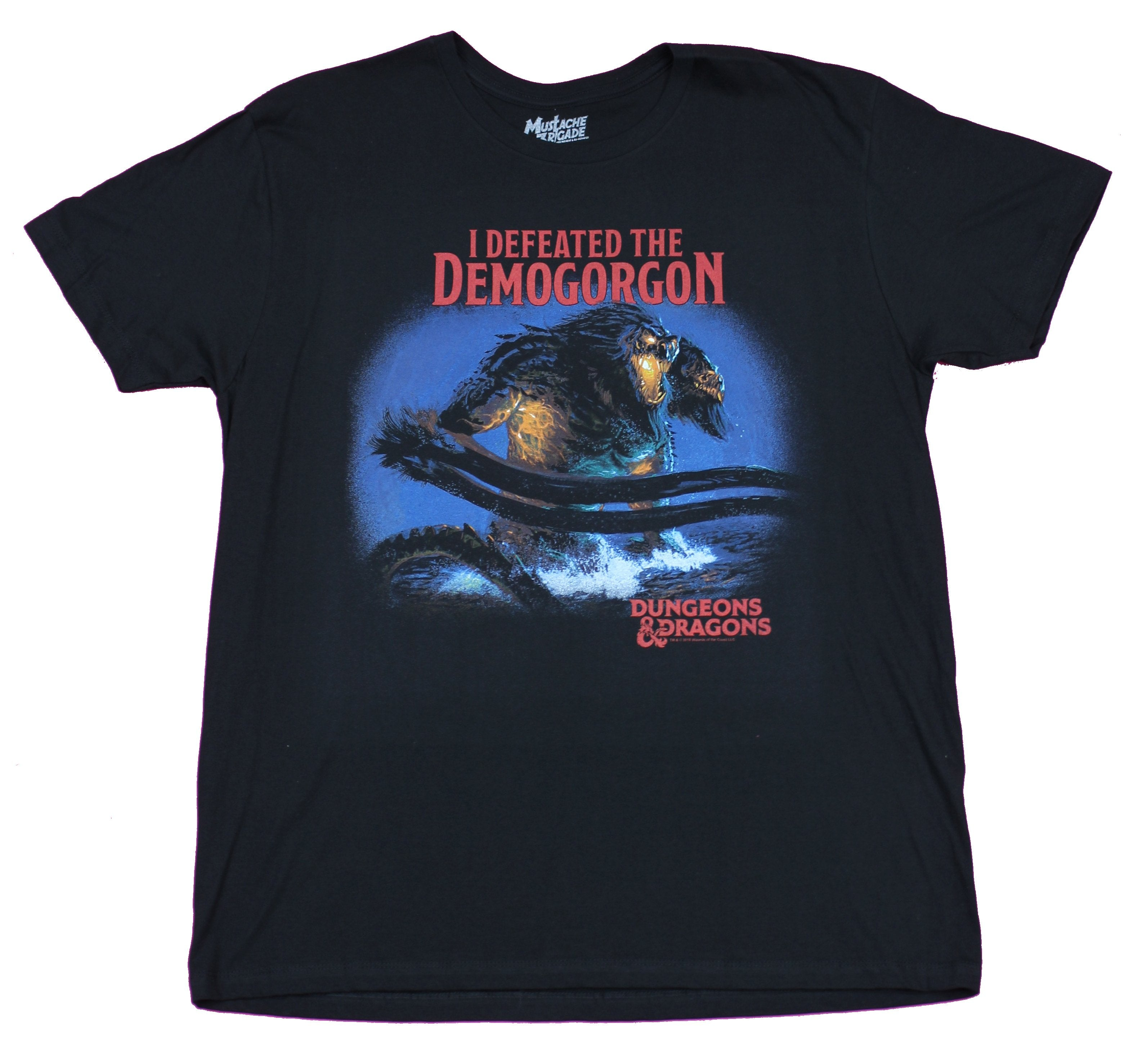 Dungeons & Dragons Mens T-Shirt - I Defeated the Demogorgon Monster Art