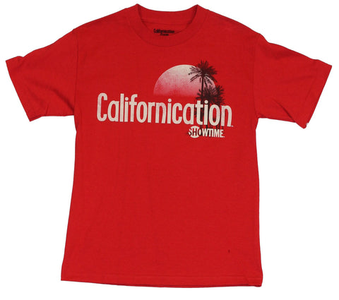 Californication (Showtime TV Series) Mens T-Shirt  - Distressed Style Logo Ca