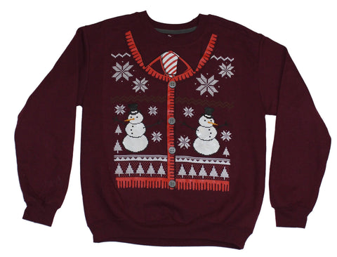 Christmas Mens Pullover Sweatshirt - Sweater Designed Snowman Image