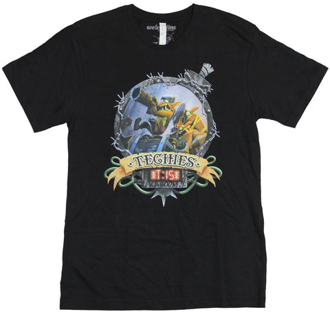 Dota 2 Mens T-Shirt - Techies Kaboom Ornate Circle Portrait Image