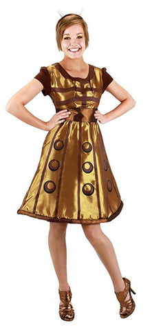 elope Doctor Who Gold Dalek Dress Medium / Small