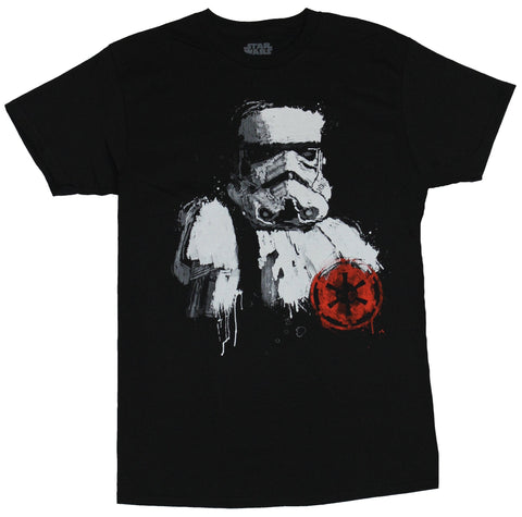 Star Wars Mens T-shirt - Stylized Stormtrooper With Red Empire Logo Image