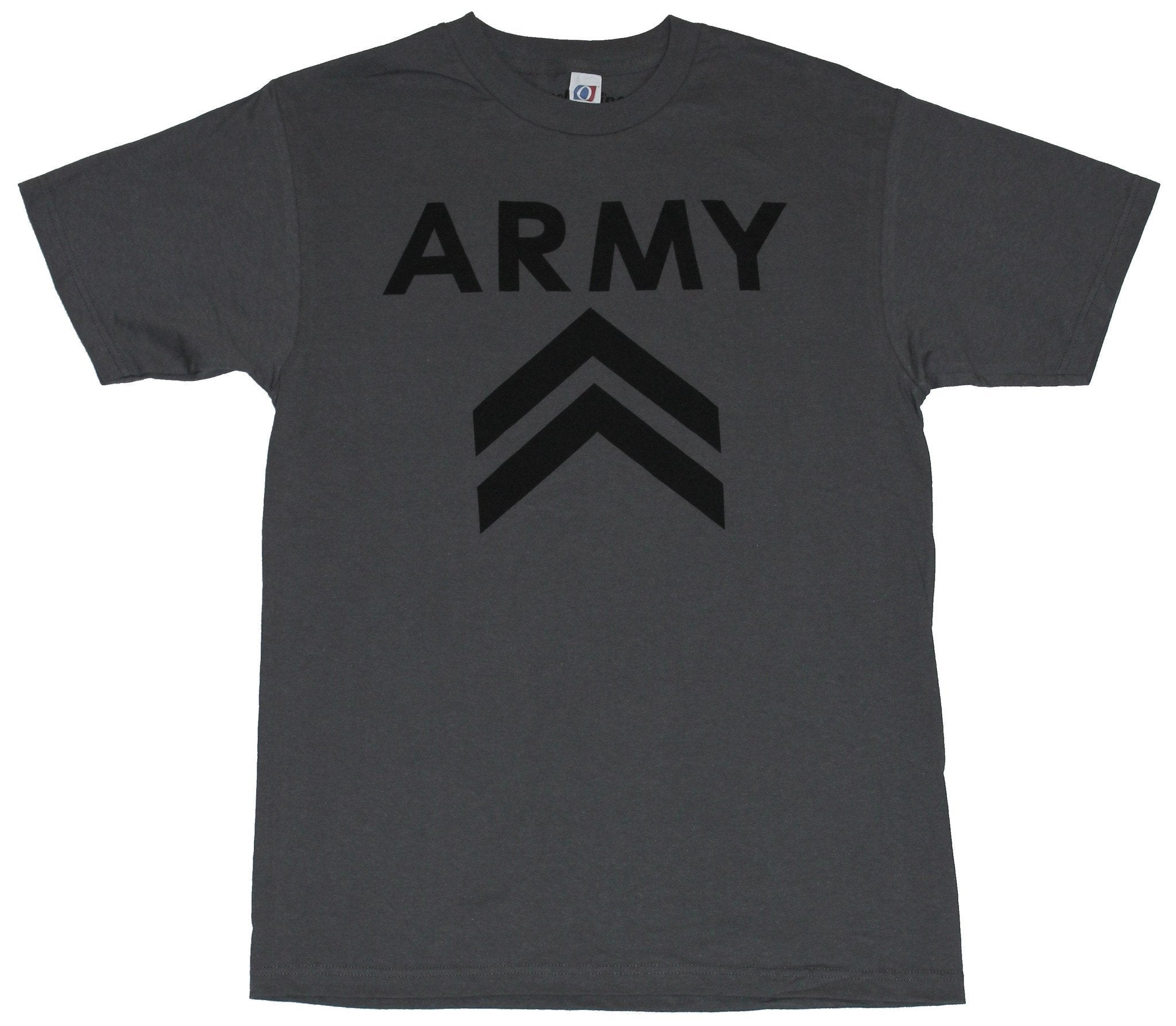 Army Mens T-Shirt - Double Bars Simple Logo Image